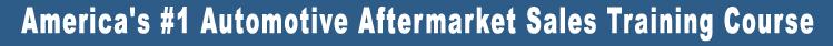 Automotive Aftermarket Sales Training Course